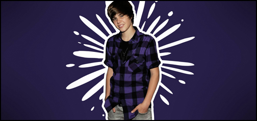 Justin Beiber Purple Splash
