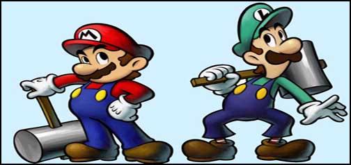 super mario and luigi brothers google homepage