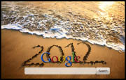 2012 In the Sand Google Homepage