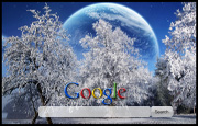 Amazing Winter Moon Google Homepage