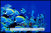 Blue Fish Google Homepage