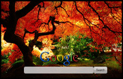 Burning Autum Tree Google Homepage