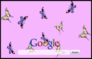 Animated Fluttering Butterflies Google Homepage