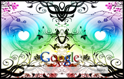 Cool Colourful Background  Google Homepage