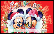 Disney Christmas Google Homepage