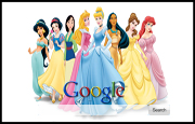 Walt Disney Princesses Google Homepage