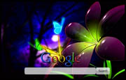 Fantasy Flower with Butterflies Google Homepage