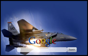 Military Fighter Jet Google Homepage