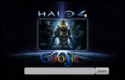 Halo 4 Google Homepage