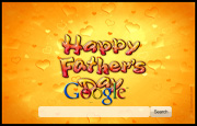 Happy Father's Day Google Homepage