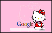 Hello Kitty Google Homepage