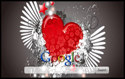 Love Heart with Wings Google Homepage