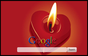 Love Candle Google Homepage