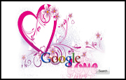 Girly Love Heart Google Homepage