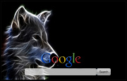 Luminous Wolf Google Homepage