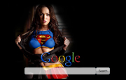Megan Fox as Sexy Super Girl  Google Homepage