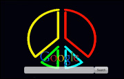 Animated Neon Peace Sign Google Homepage