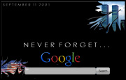 Never Forget 911 Google Homepage
