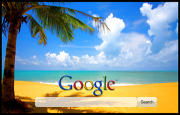 Perfect Beach Google Homepage