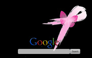 Pink Ribbon With Butterfly