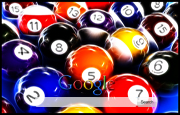 Pool Balls Google Homepage