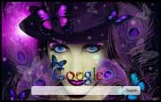 Purple Gothic Butterflies Google Homepage