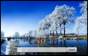 Snowy Trees At The Lake Google Homepage