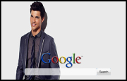 Taylor Lautner Suits Up Google Homepage