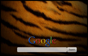 Tiger Pattern Google Homepage